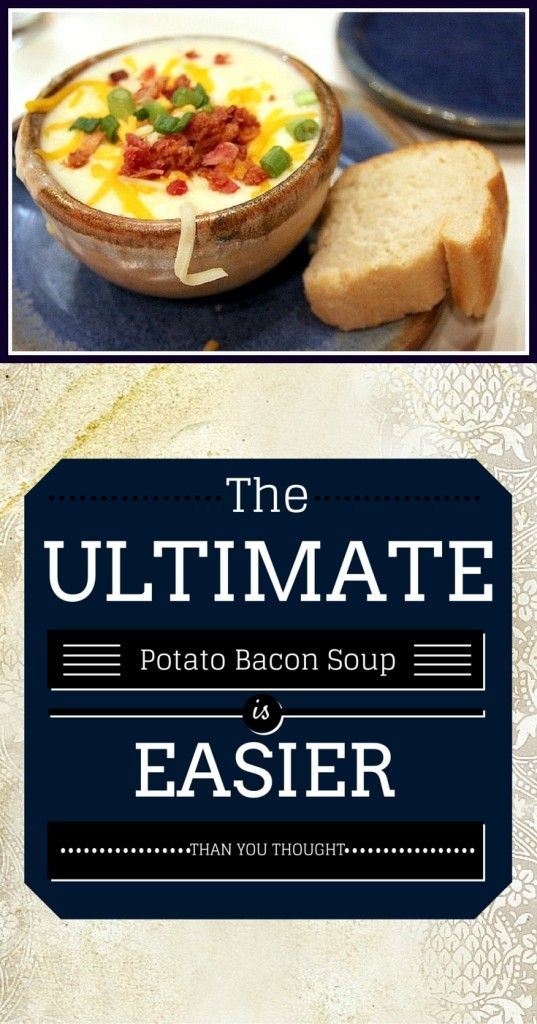 Discover he ultimate potato bacon soup recipe in just a few simple steps. Warming and satisfying.