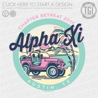 Alpha Xi Delta   ΑΞΔ   Chapter Retreat   Chapter Retreat Shirt   TGI Greek   Greek Apparel   Custom Apparel   Sorority Tee Shirts   Sorority T-shirts   Custom T-Shirts