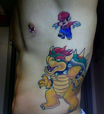 Cool tattoo but luigi never gets any respect.