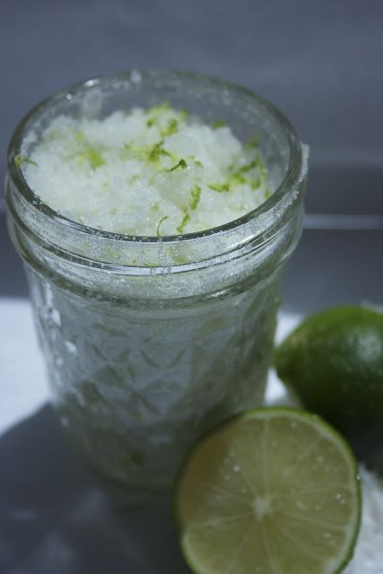 DIY coconut lime sugar scrub