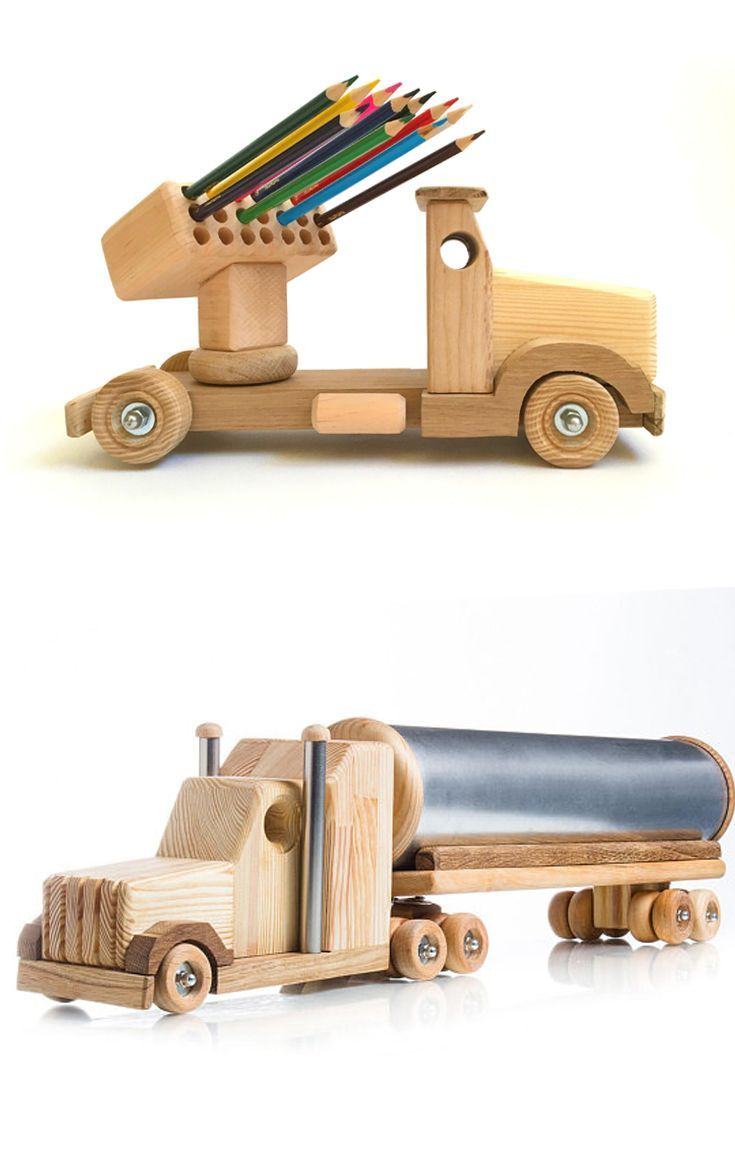 wooden toys for boys montessori educational toys tank truck