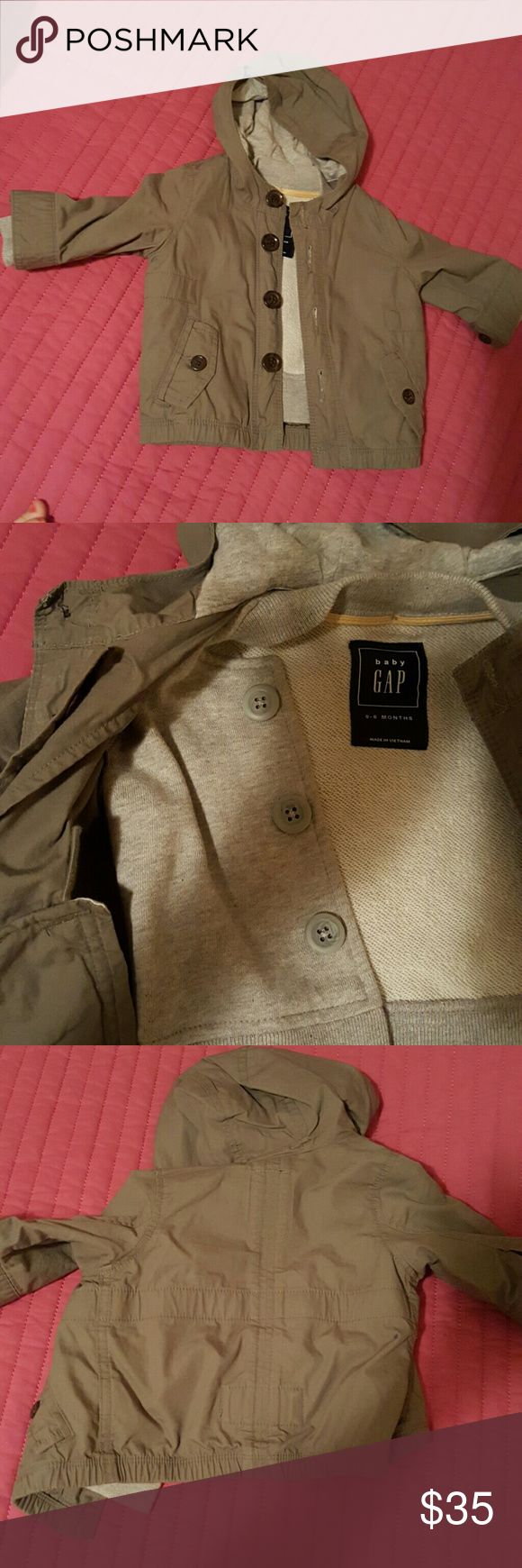 CHRISTMAS SALE Baby gap coat .... 2 in one...worn ones....very warm and perfect for this weather...the bottom is a vest and could be deattached ...army green GAP Jackets & Coats Raincoats