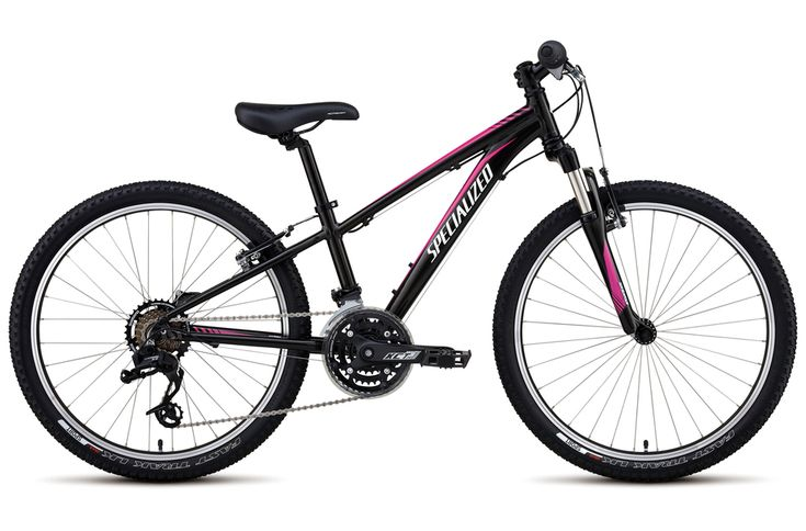 Specialized Hotrock 24 XC Girls 2017 Kids Bike - Black/Pink - 24 Inch wheel