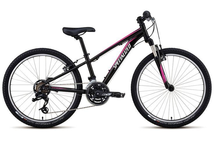 Specialized Hotrock 24 XC Girls 2017 Kids Bike - Black/Pink - 24 Inch wheel