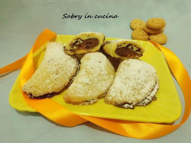 Ravioli con nutella ed amaretti - Ricetta Befana - Sabry in cucina