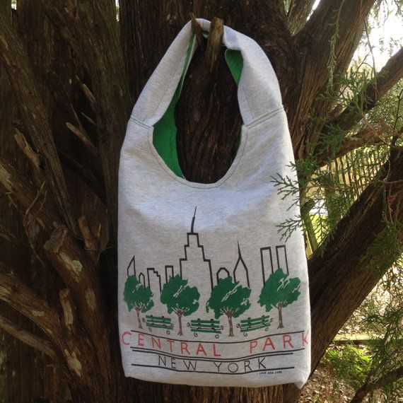 Central Park upcycled tshirt tote