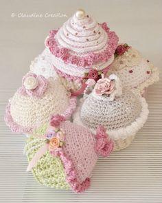 crochet cupcake ༺✿ƬⱤღ✿༻
