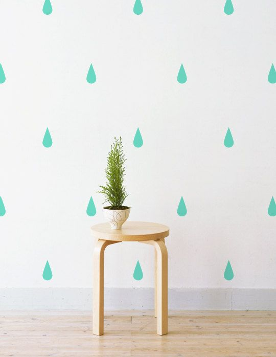 raindrops removable wall decal u0026 sticker for home office nursery lsb0224vcc