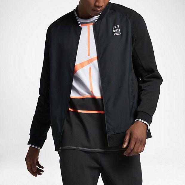 NikeCourt Men's Tennis Jacket, Nike, Tennis Fashion Men, trendy Tennis Outfits for him, Tennismode, sportliche Mode fürs Tennisspielen.
