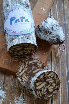 Schoko-Salami (Kalte Schnauze) Rezept zum Selbermachen - Familienrezepte zum Selberkochen und Backen.