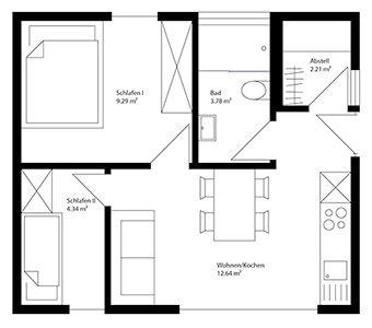 85 besten kleine hauspl ne bilder auf pinterest kleine for Mobiles wohnen im minihaus