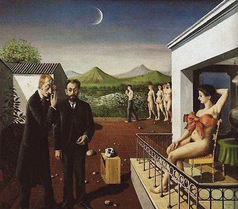 17 best images about art histoire on pinterest georges for Paul delvaux le miroir