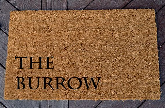 Hey, I found this really awesome Etsy listing at https://www.etsy.com/listing/248680660/the-burrow-welcome-mat-harry-potter