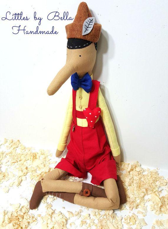 Pinocho muñeca cuento wonderland muñeca niños por littlesbyBella