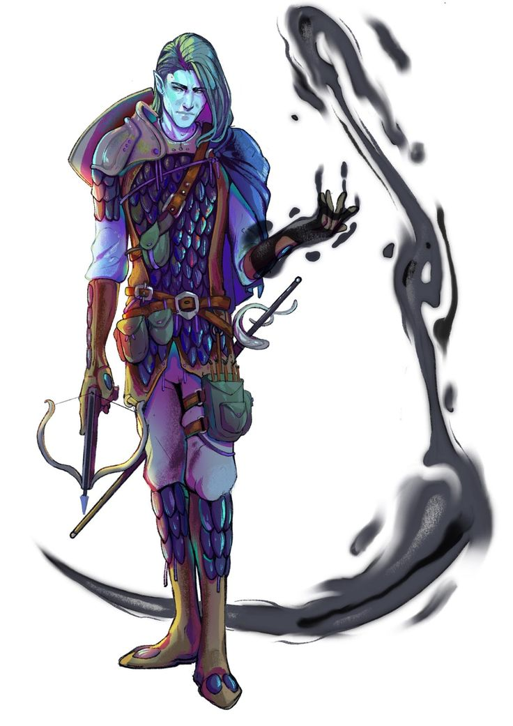 Male triton water genasi sorcerer arcane trickster rogue