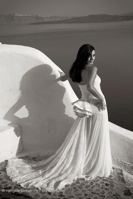 Santorini bride from Lebanon