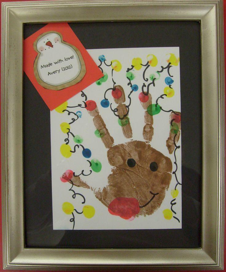 kid handprint reindeer