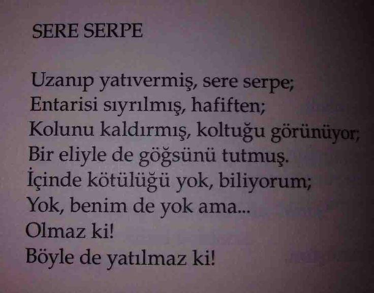 Sere Serpe - Orhan Veli - Şiir Alıntıları
