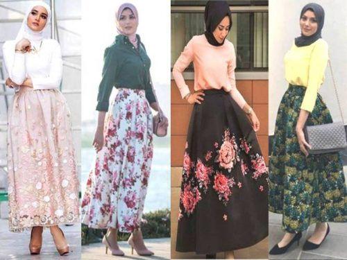 puffy maxi skirts hijab looks- Eid hijab fashion looks http://www.justtrendygirls.com/eid-hijab-fashion-looks/