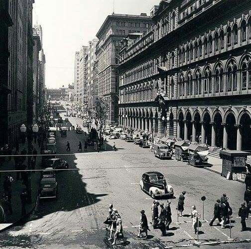 Martin Place in Sydney in 1948.