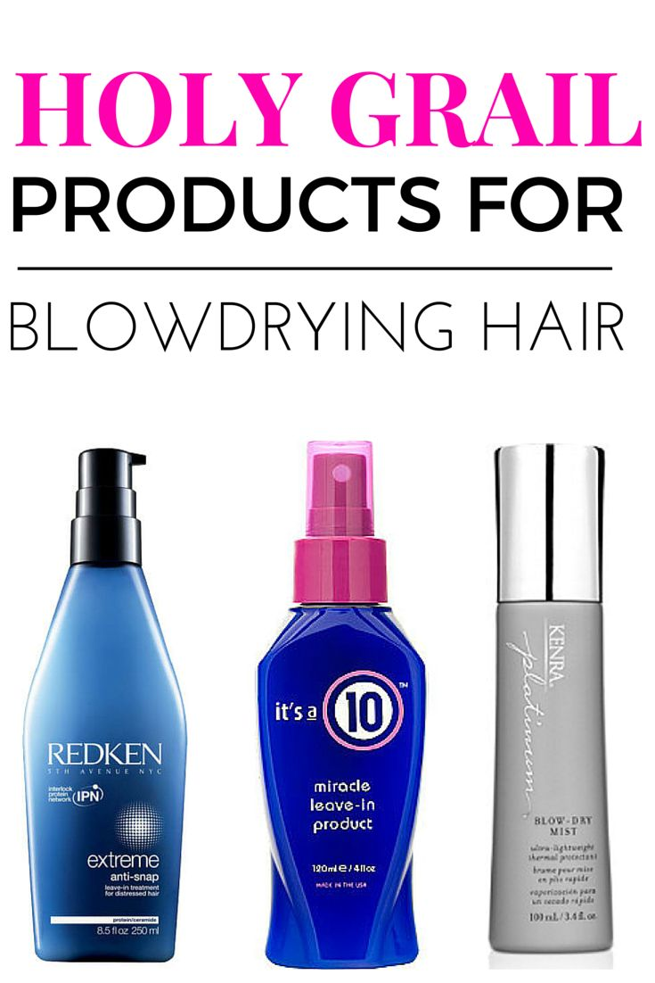 The best products to strengthen and protect hair when blowdrying and using heat.