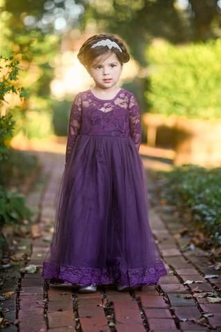 Dark Purple Dress Toddler