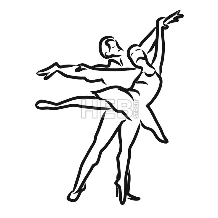 Graphic sketch woman and man dancers. Classical balett. Hand-drawn Vector isolated drawing.... ... #vector #doodle #sign #kids #kindergarten #sign #graphic #banner #design #hebstreit