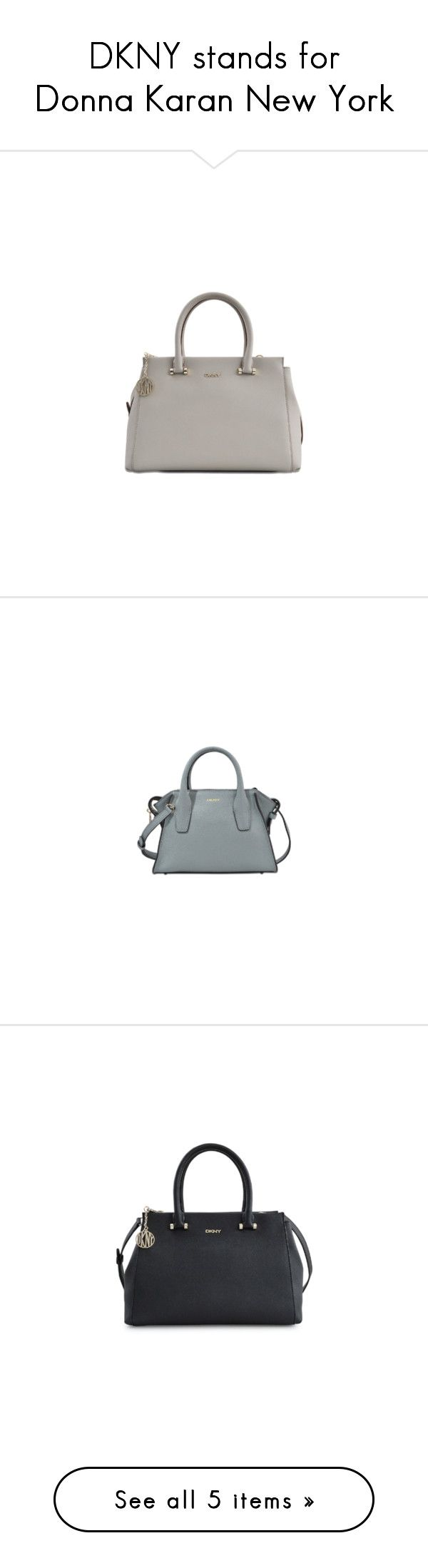 """DKNY stands for Donna Karan New York"" by rivlyb ❤ liked on Polyvore featuring dkny, bags, handbags, brown handbags, studded purse, studded handbags, zipper purse, mini purse, blue studded purse and dkny handbags"