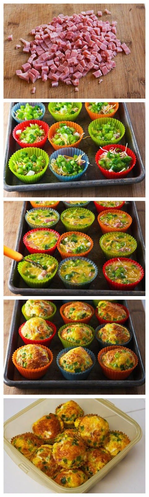 Easy mini quiches fill muffin tin with the filling (meats and veggies) one egg per mini quiche, beat with a teaspoon of cream for each season accordingly... Pour in and top with cheese bake until golden Enjoy!