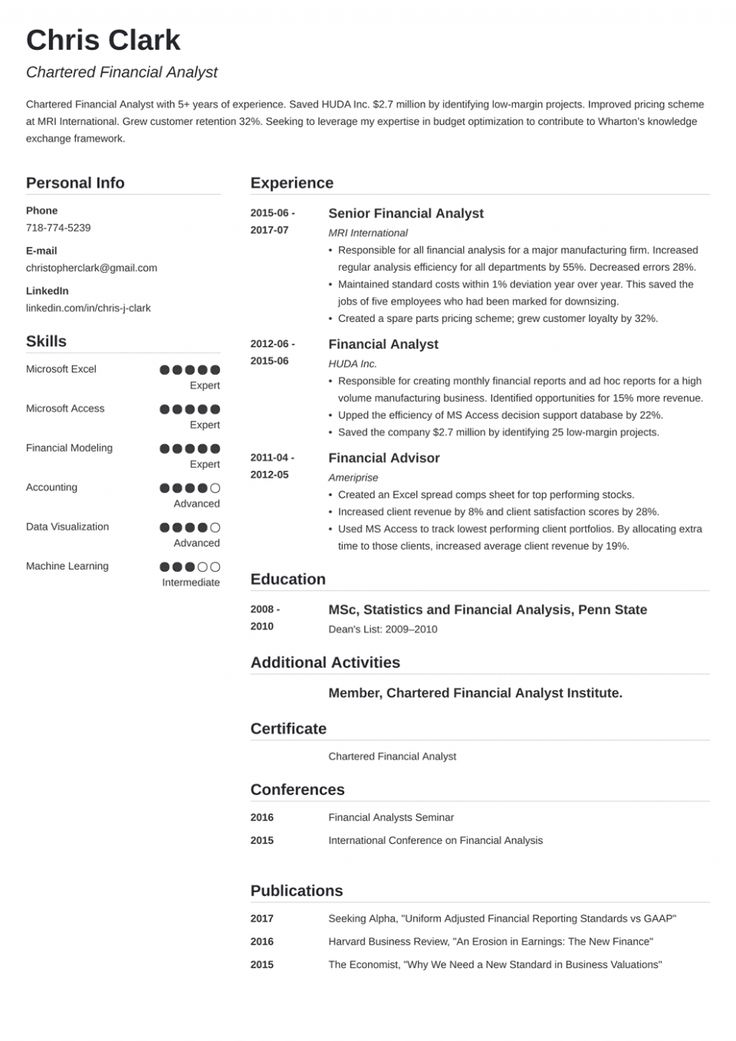 11 Mba Resume Sample