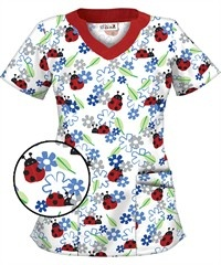 Cute scrub tops to wear at the hospital