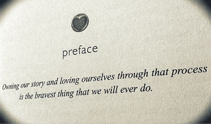 from Brené Brown's book: The Gifts of Imperfection