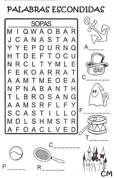 77 best Sopa de letras-crucigramas-diferencias juegos