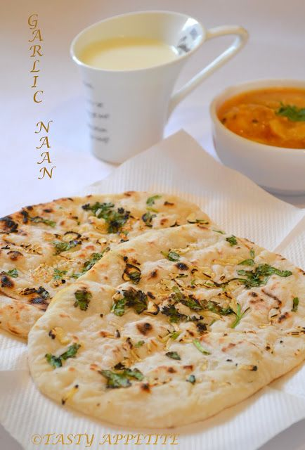 Tasty Appetite: How to make Garlic Naan ( yeast free ) / Step by Step Recipe: