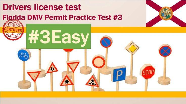 Drivers license test: Florida DMV Permit Practice Test #3(Easy)
