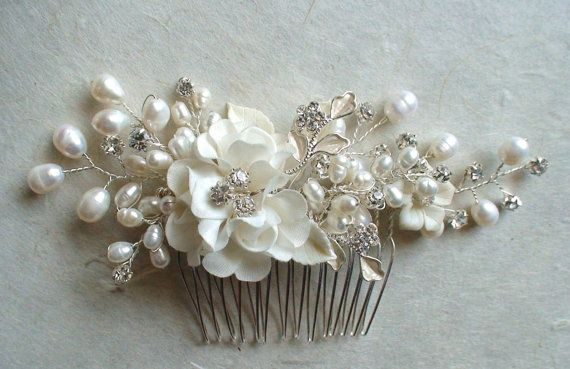 Julie, I think this one is my favorite.   Pearl hair comb. Bridal hair accessories. Bridal Head Piece, Bridal headpiece. Pearl comb.Wedding hair comb.
