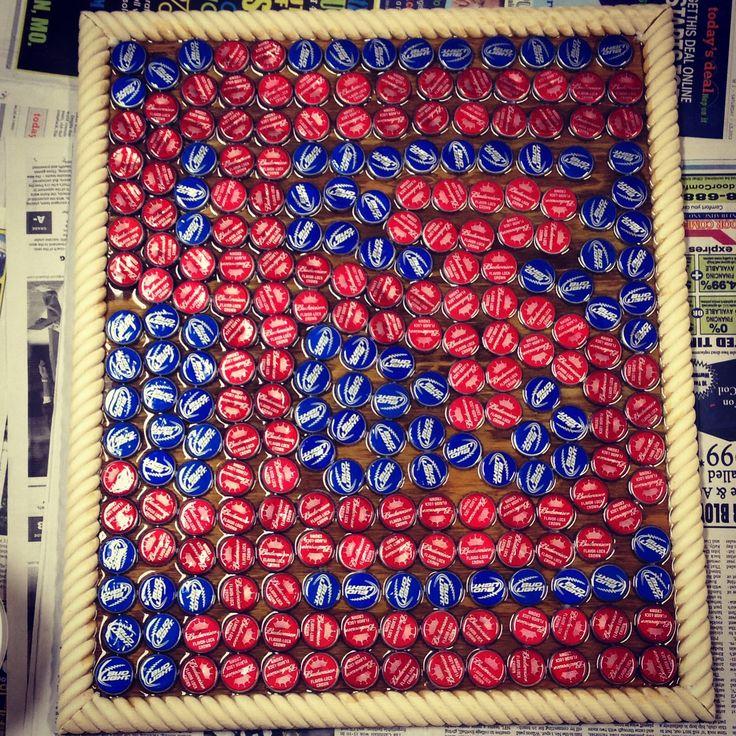 My masterpiece of bottle caps #cardinals #baseball