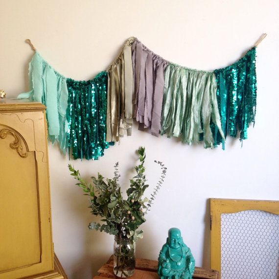 Fabric Banner. Party Garland. Bohemian Banner. by Gypsydaydream