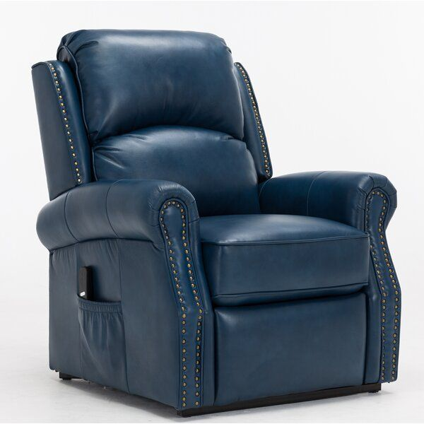 Lannie Faux Leather Power Lift Assist Recliner Recliner Rolled Arm Sofa Darby Home Co