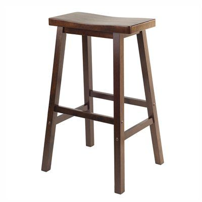 Winsome Wood Saddle Seat Stool - This one's the height and color of the other two I already have