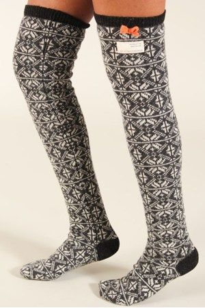 Jacquard long sock