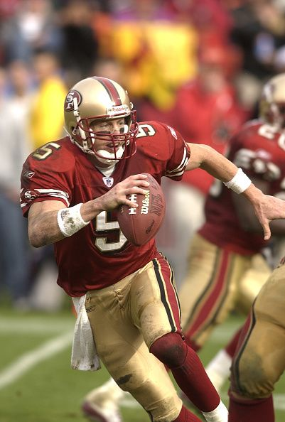 Jeff Garcia of the San Francisco 49ers 2002