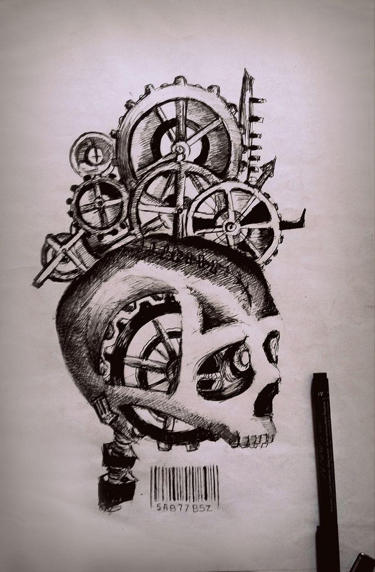 Dessin Tete mécanique