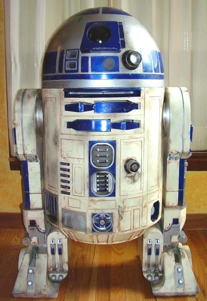 Resin and plastic 1:1 scale R2-D2 static display. My third build. By Kelly Krider. R2 Builders Club.