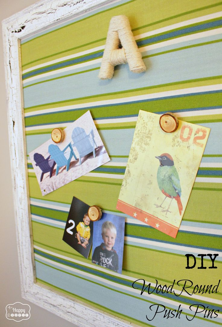 DIY Wood Round Magnets and Push Pins