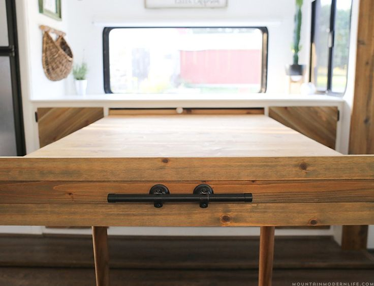 space saving diy pullout table