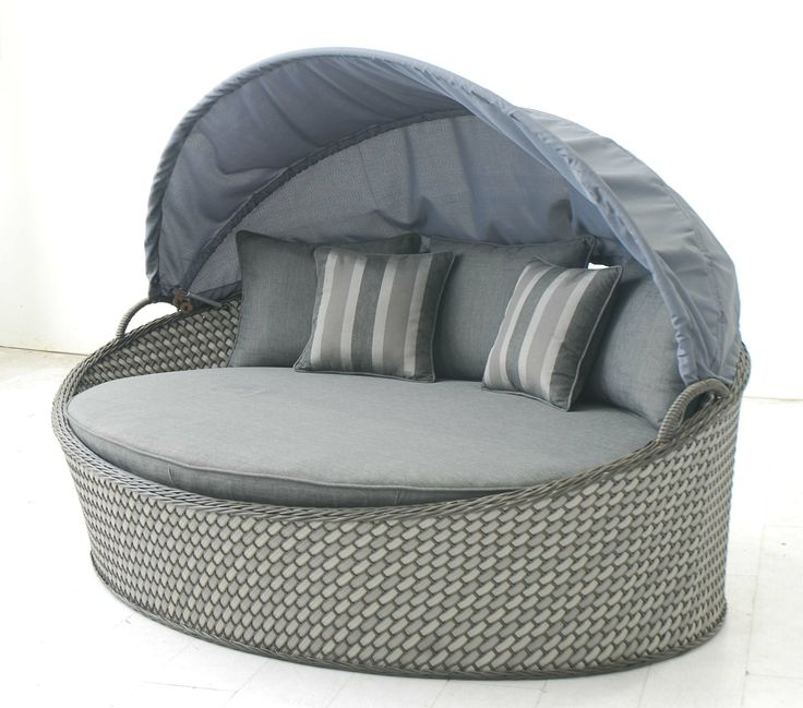 Patio Wicker Daybed with Canopy  sc 1 st  Pinterest & 163 best Outdoor Living u0026 Creative Living Products images on ...