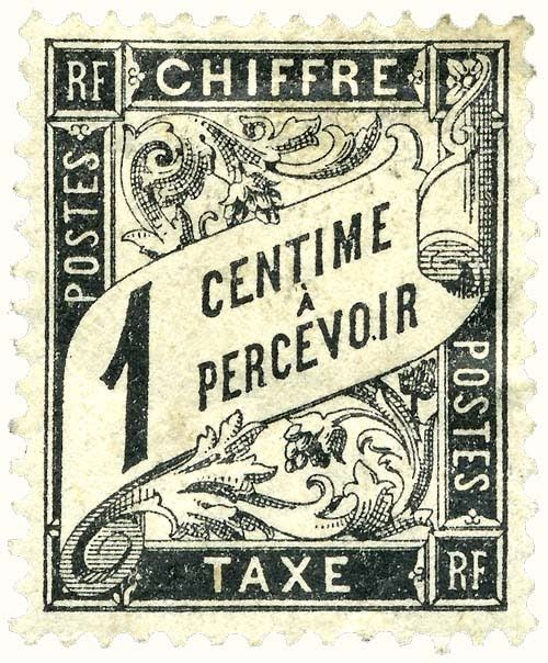 French postage stamp - 1882