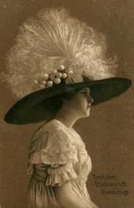 1912 photo. Wow, what a hat.