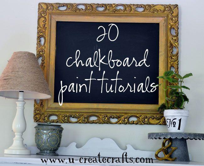 chalkboard paint ideas!